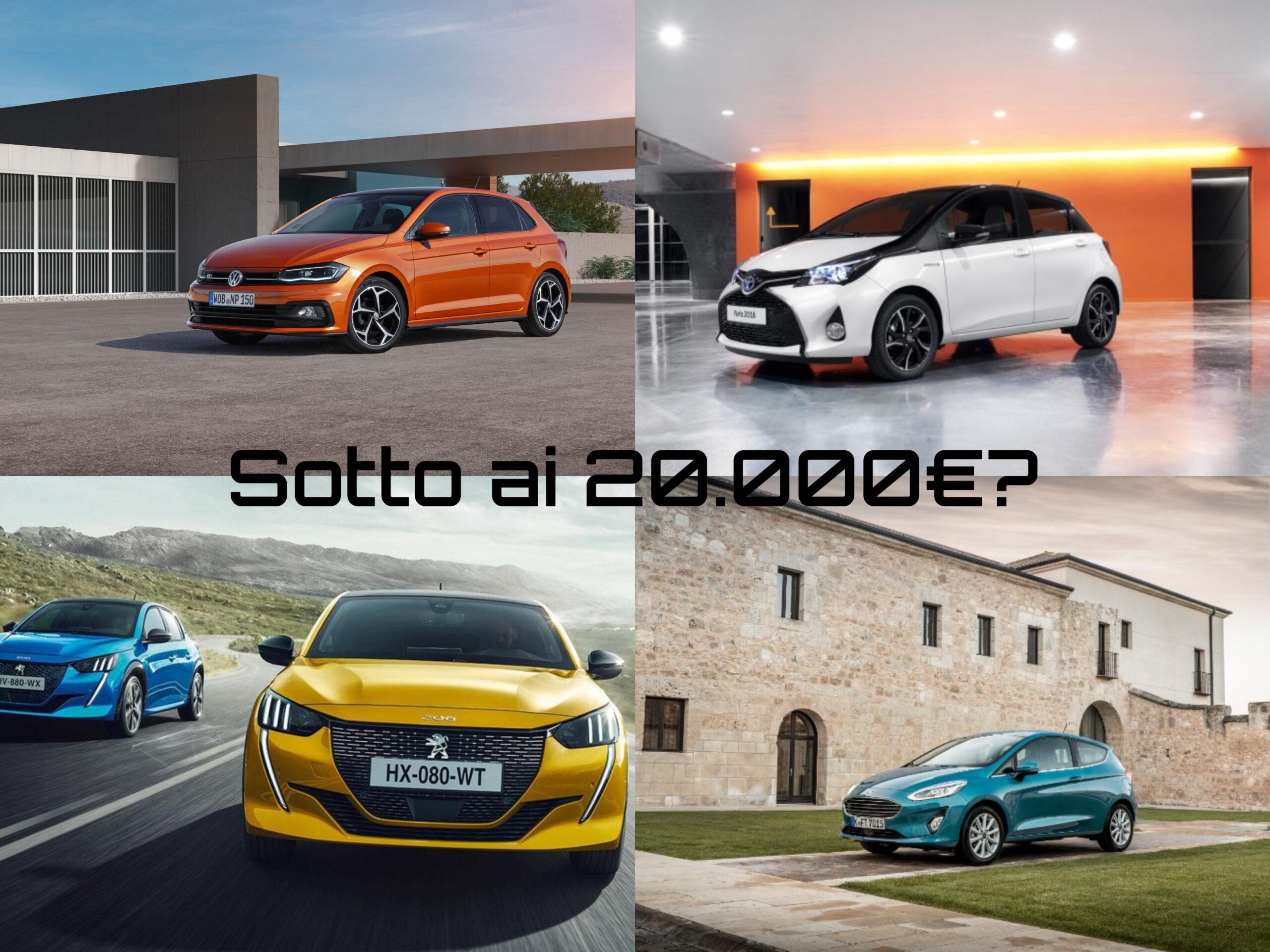 Le migliori auto sotto i 20.000€