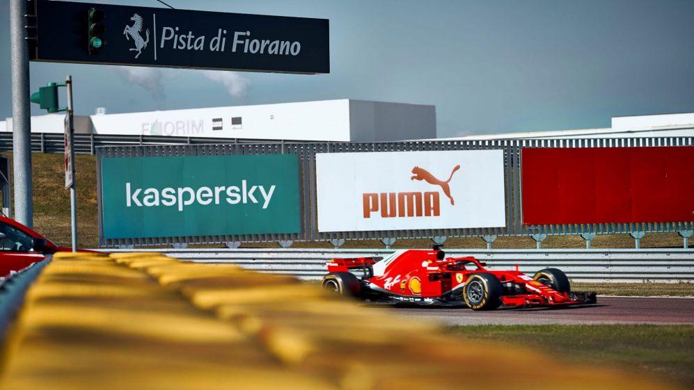Carlos Sainz in pista con la Ferrari mercoledì.