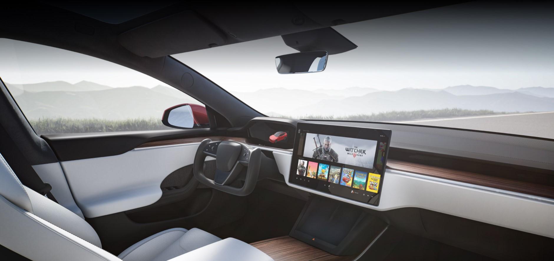 Tesla Model S/X: ecco il restyling. Si potrà anche giocare a Cyberpunk 2077.