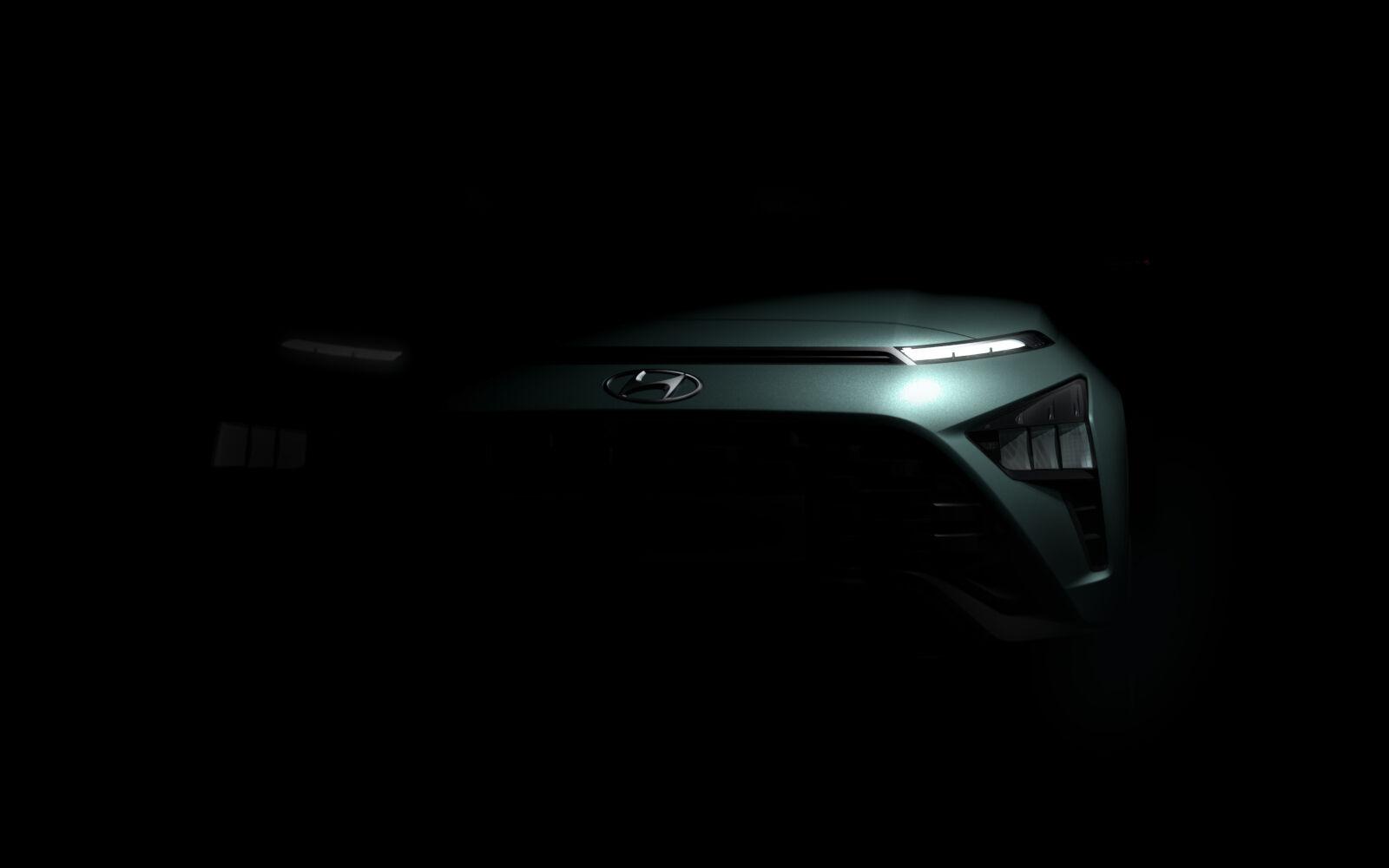 Hyundai Bayon: svelate le prime immagini del SUV compatto.