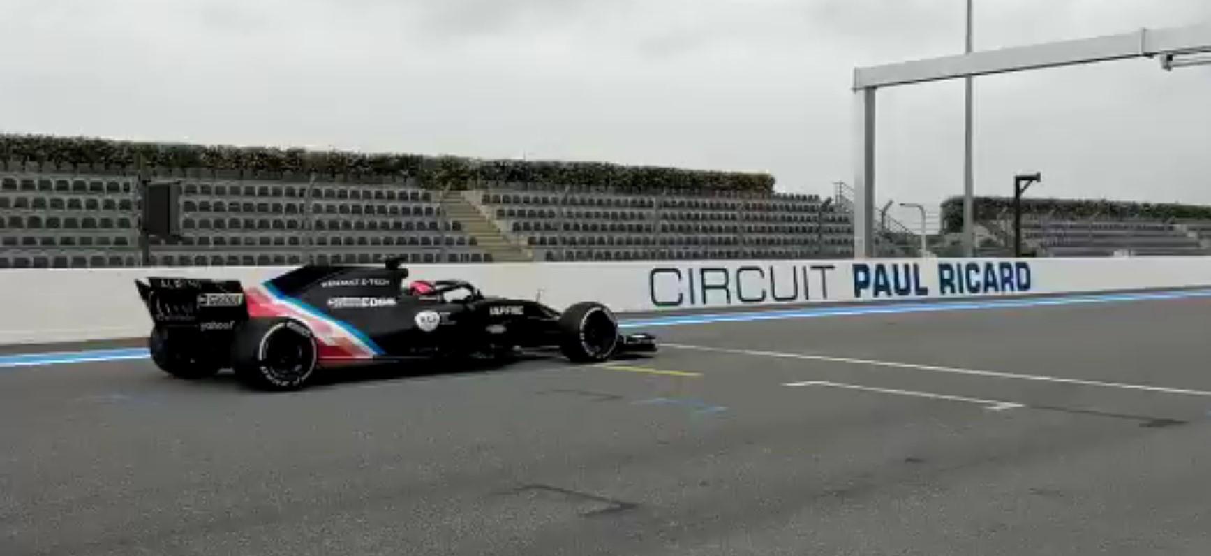 Ocon si prepara per il 2021 andando in pista con la Renault 2018.