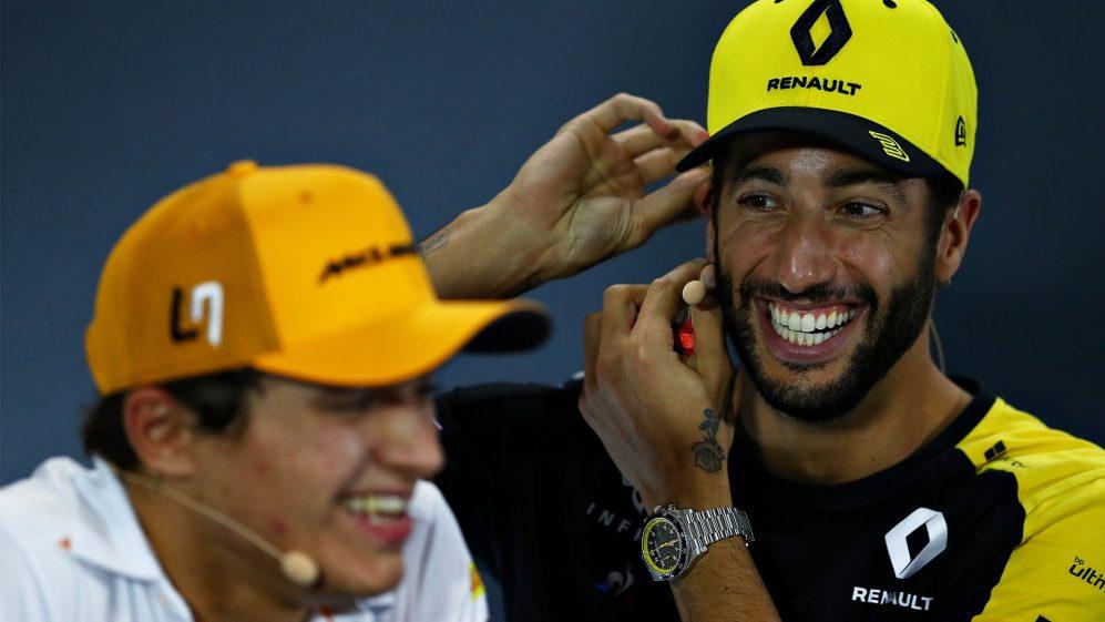 """Norris:""""Sono curioso di vedere come guida Ricciardo""""."""