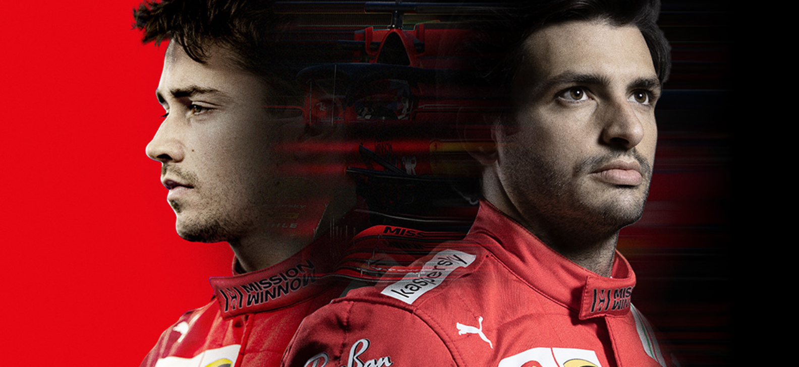 Ferrari presenta il team di F1, partendo da Leclerc e Sainz.