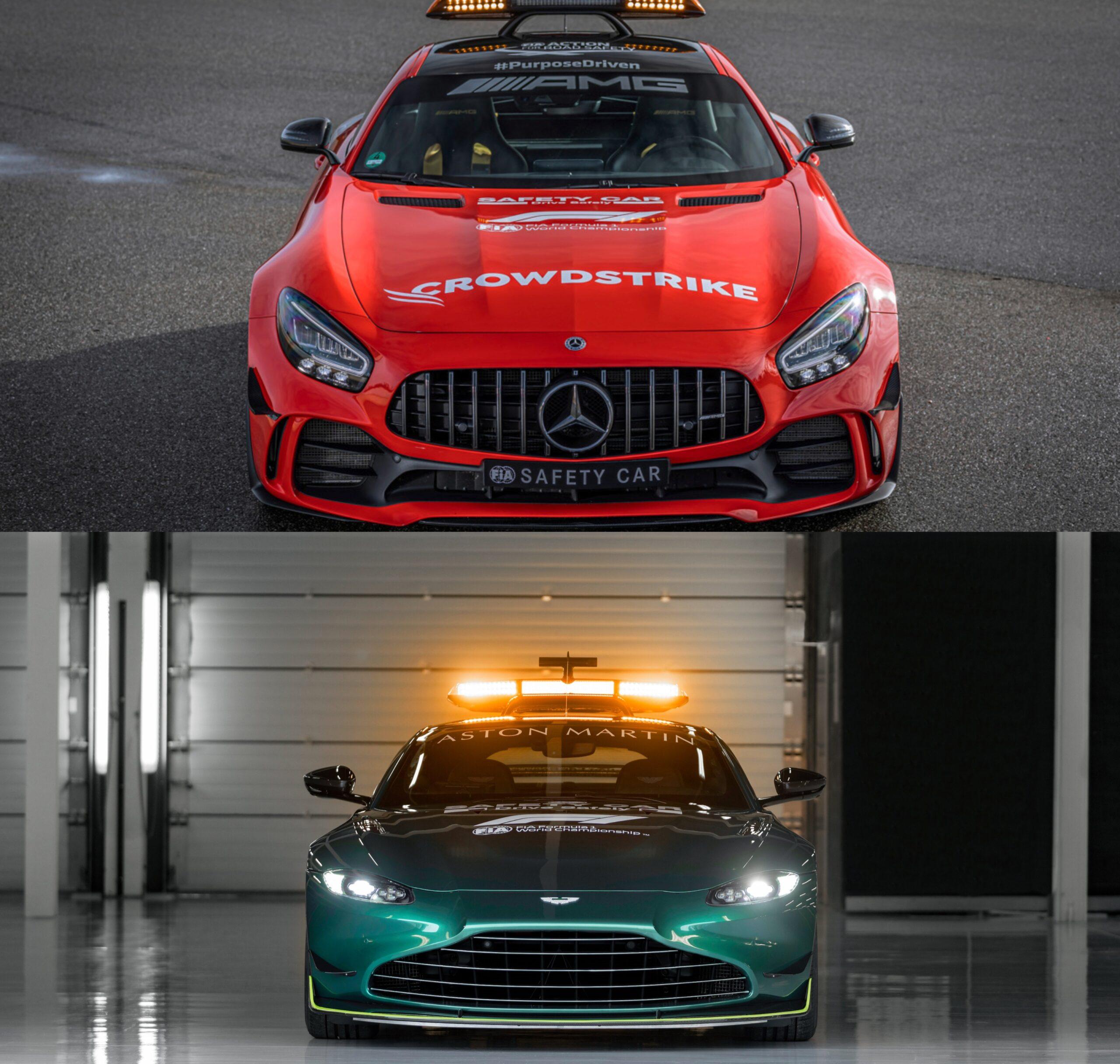 Ecco le nuove Safety Car Mercedes e Aston Martin.