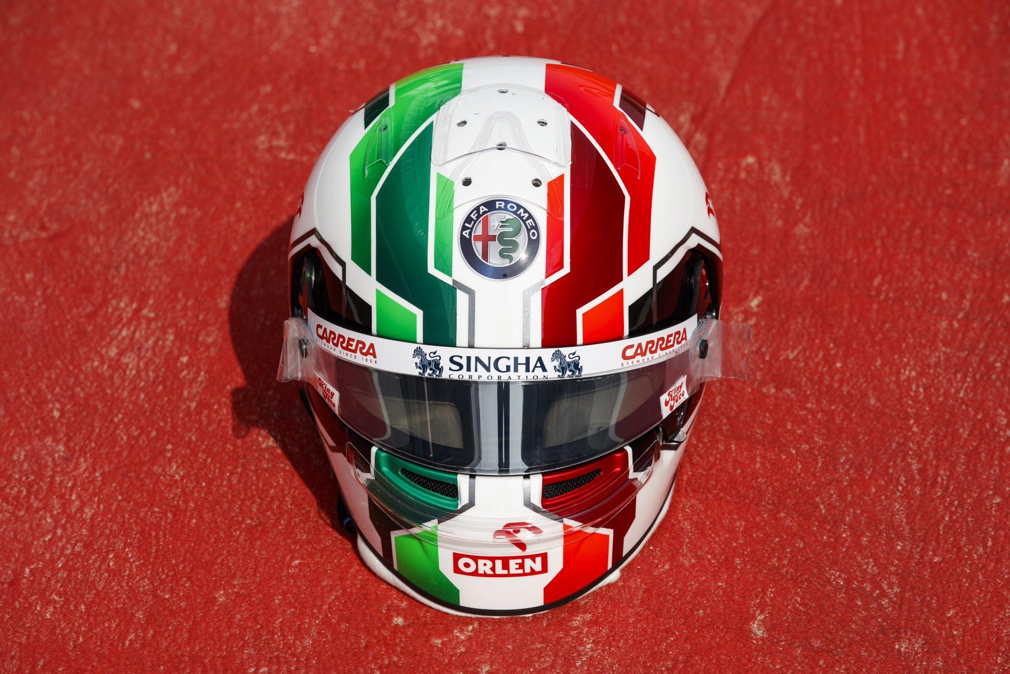 Ecco il nuovo casco di Antonio Giovinazzi.