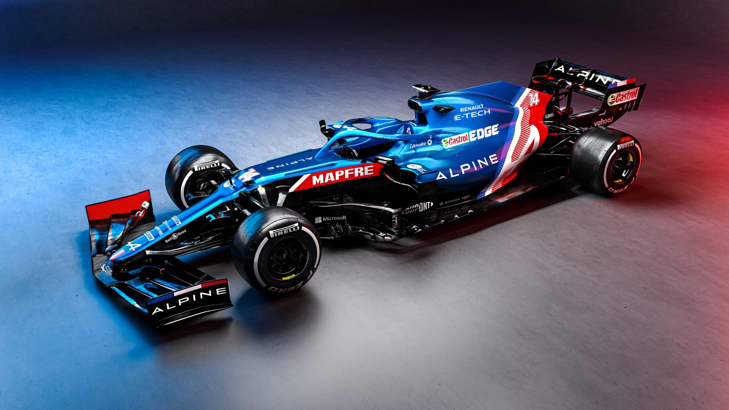 Alpine F1 Team presenta la nuova monoposto di F1, l'A521.