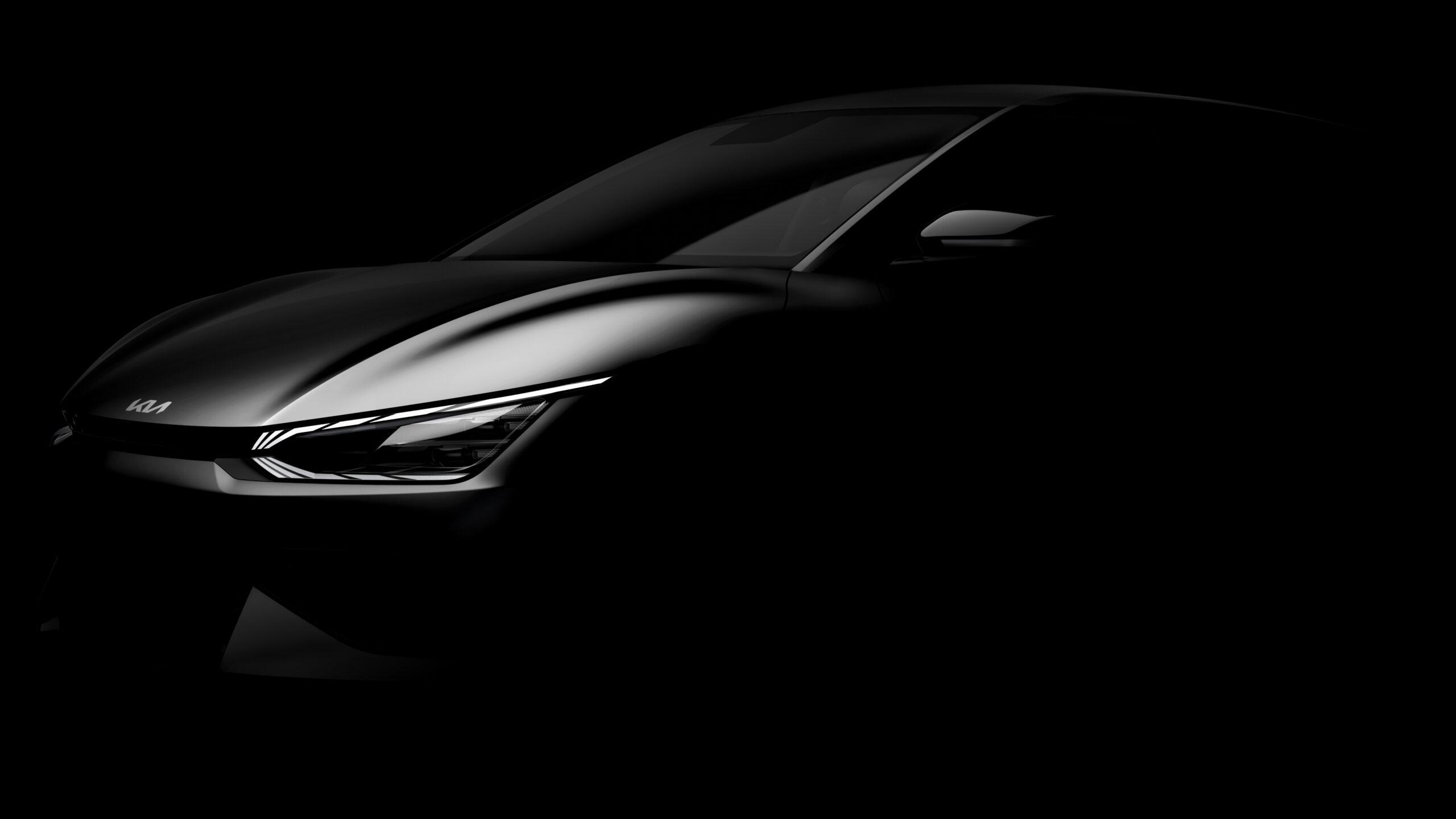 Primo Teaser della nuova Kia EV6 elettrica.