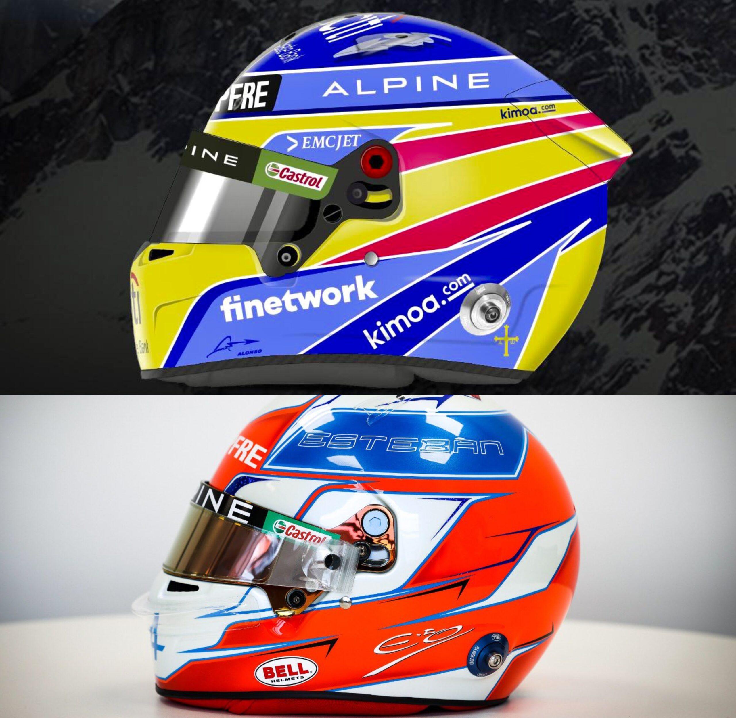 Nuovo casco per Alonso e Ocon.