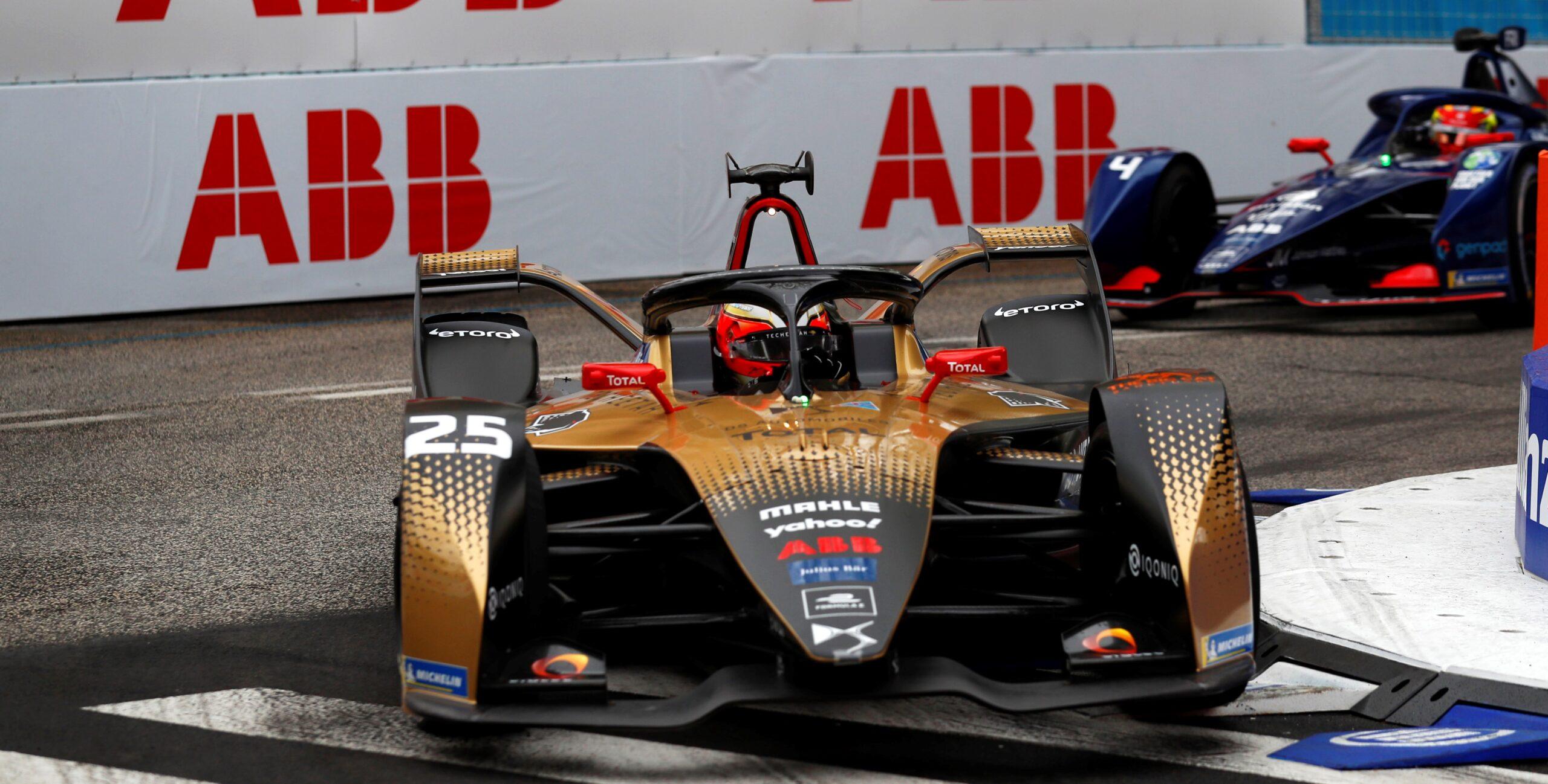 Gara E-Prix di Roma di Formula E: Vince Vergne con la sua DS in una gara pazza.