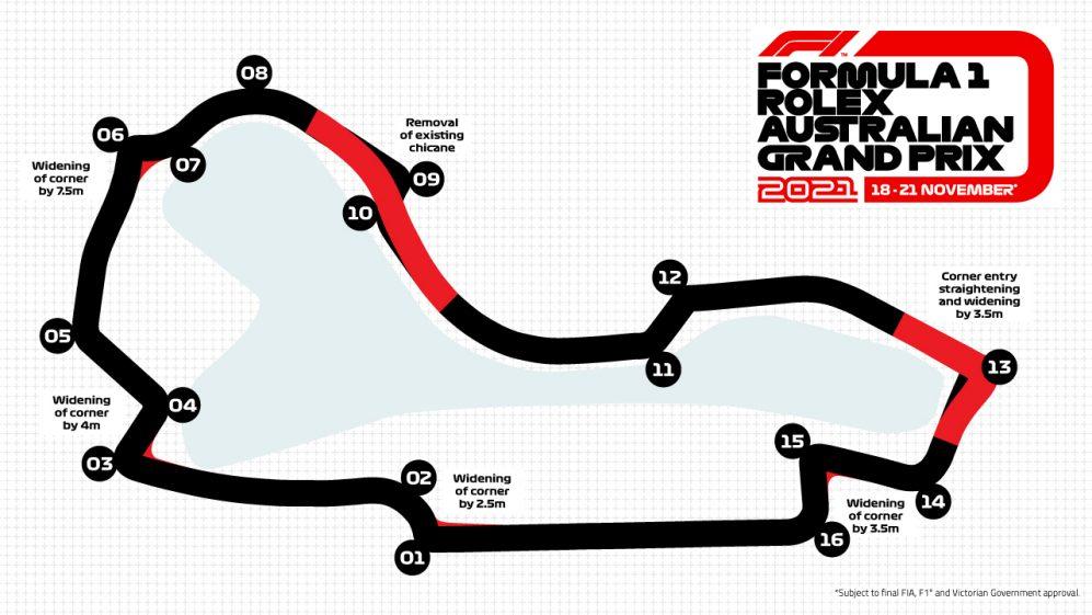 Ecco il nuovo circuito del Gp d'Australia.