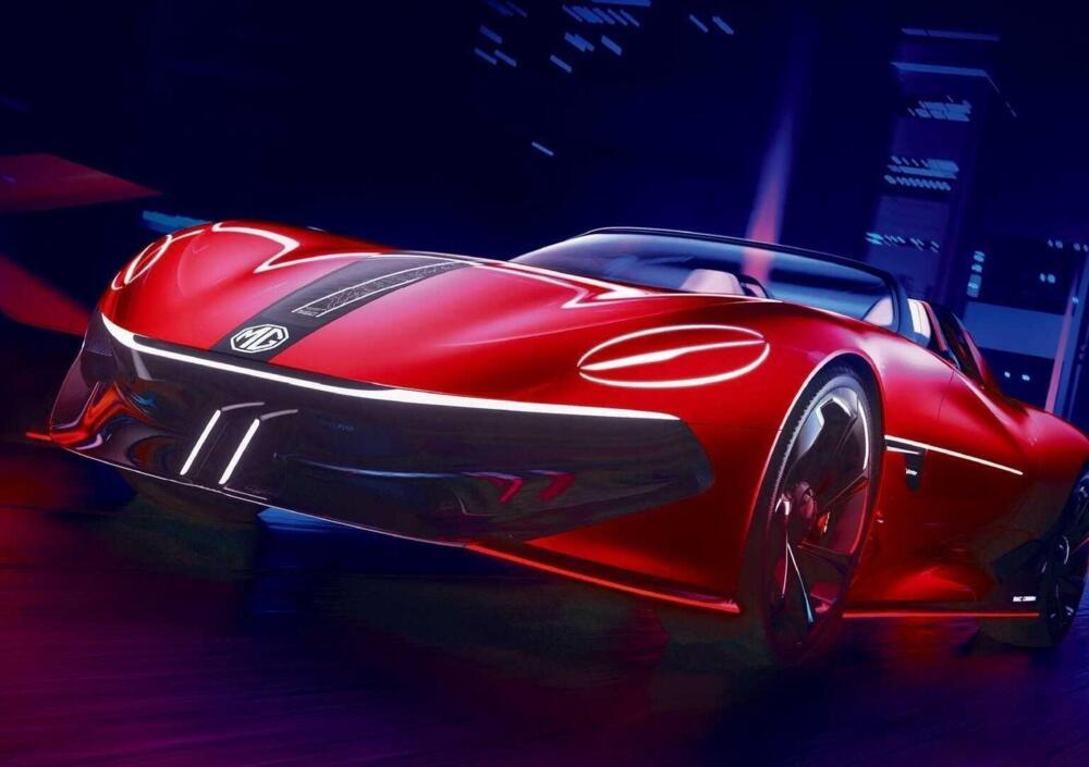 La MG Cyberster elettrica debutterà a Shanghai.