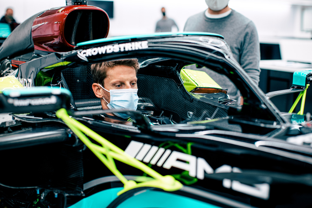 Grosjean in Mercedes F1 per un test privato.
