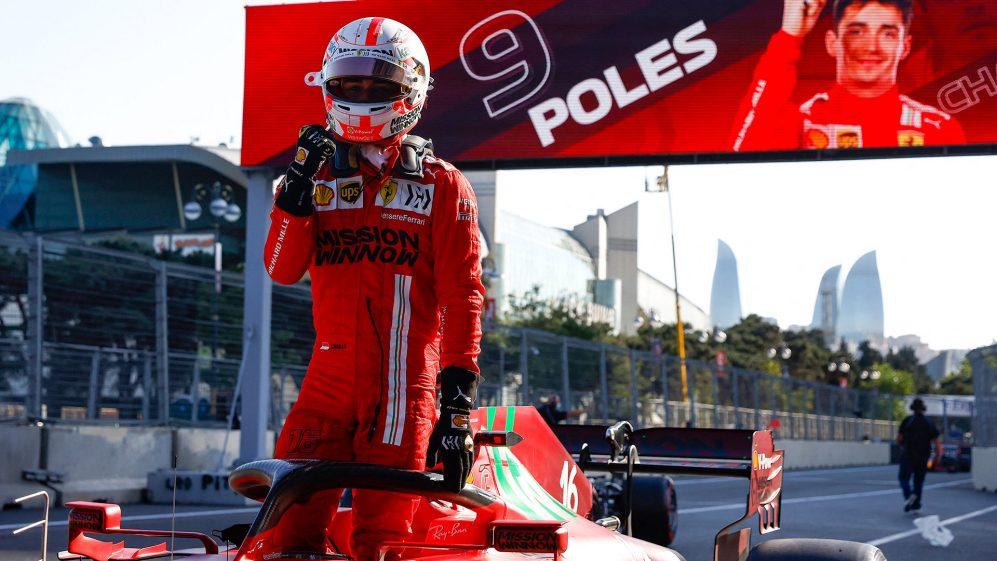Qualifica Gp di Baku di F1: Super Pole per Leclerc, secondo Hamilton.