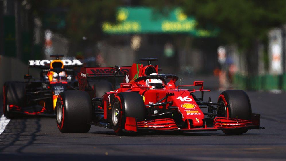 """Leclerc sul Gp di Baku: """"Il bloccaggio mi ha complicato un bel po' la vita""""."""