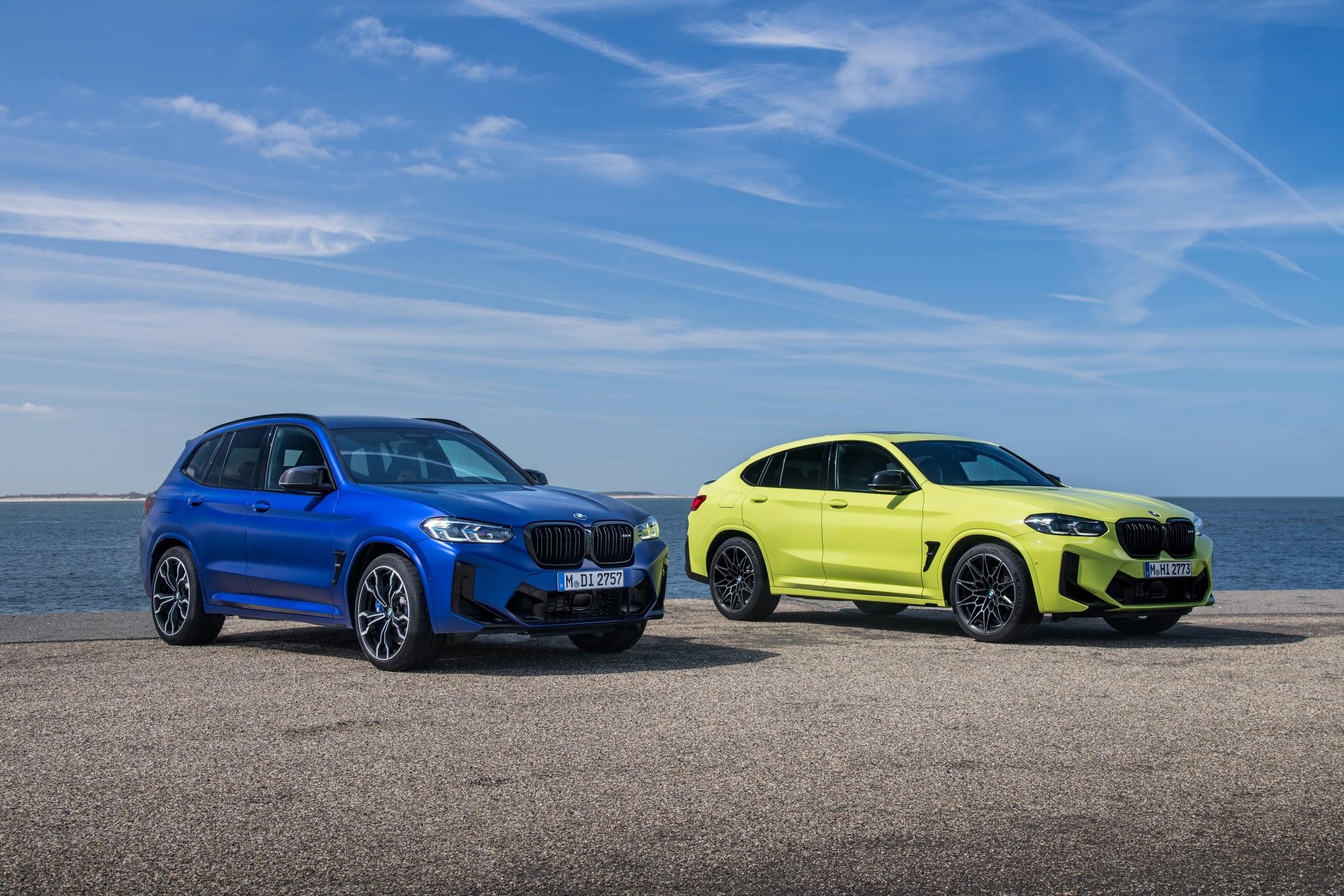 Nuova BMW X3 M e X4 M: design, interni e motori.