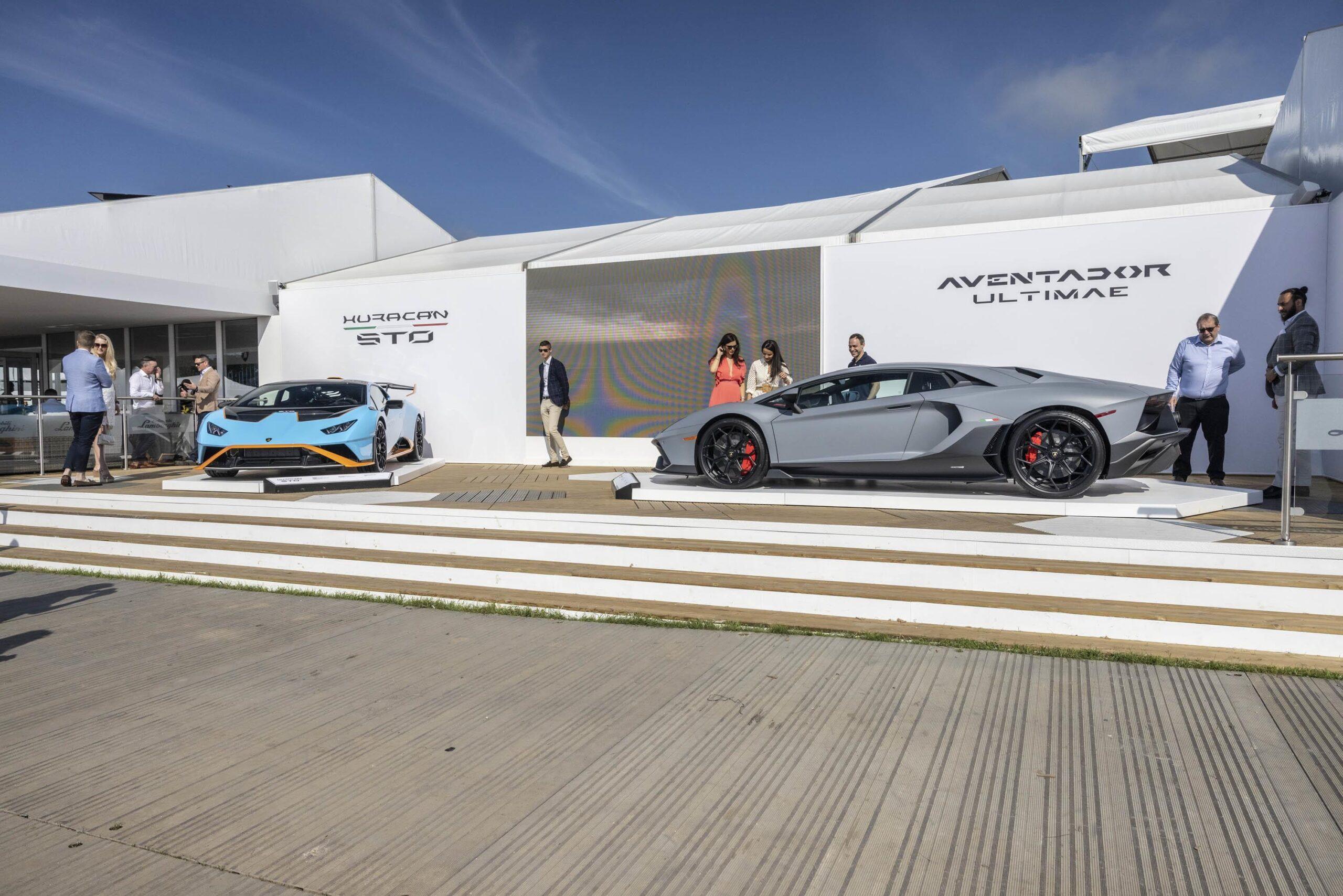Lamborghini mostra le sue supersportive V12 al Goodwood Festival of Speed
