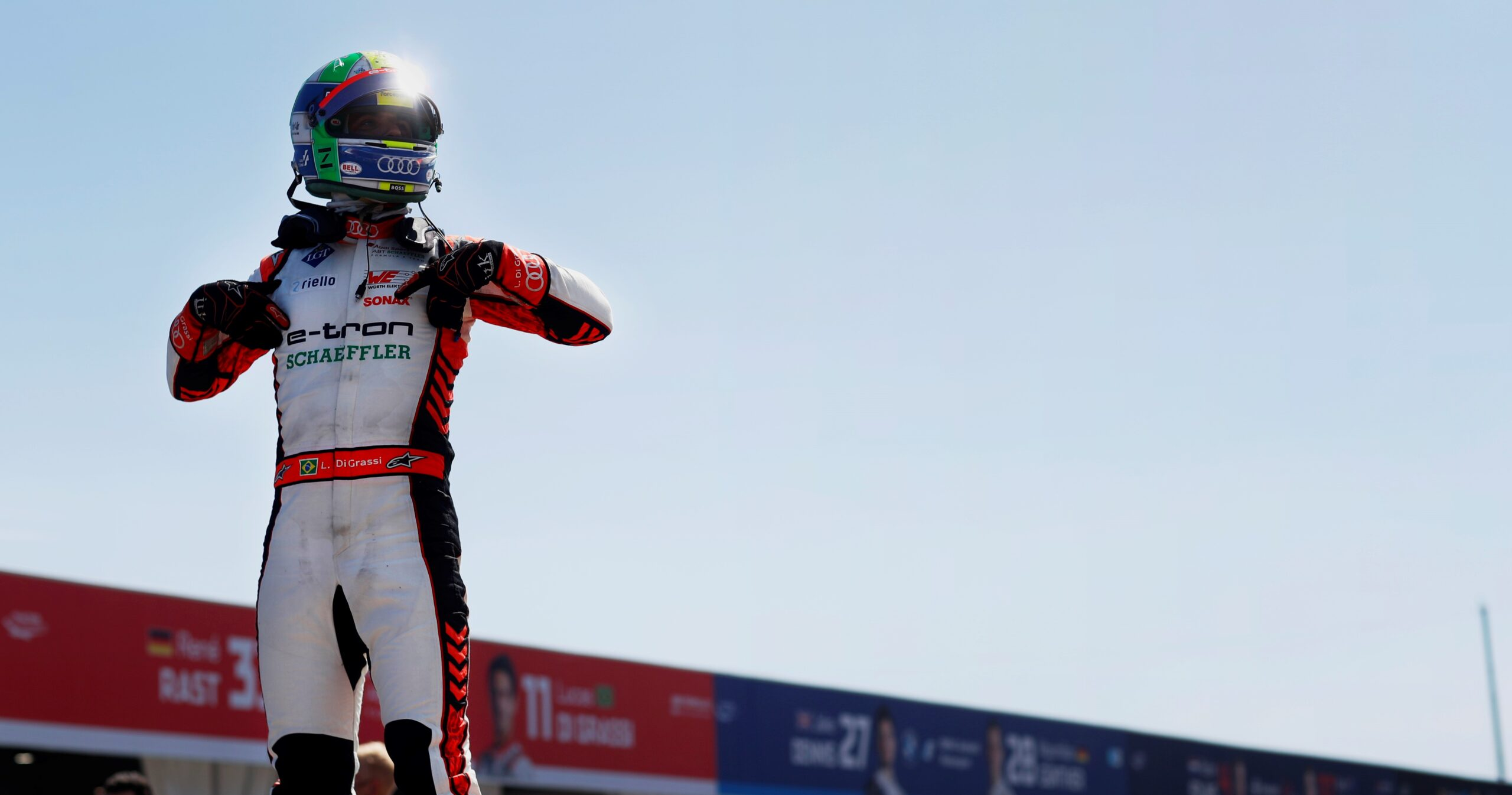 Gara E-Prix di Berlino (Round 14): Di Grassi vince con l'Audi, davanti a Mortara.