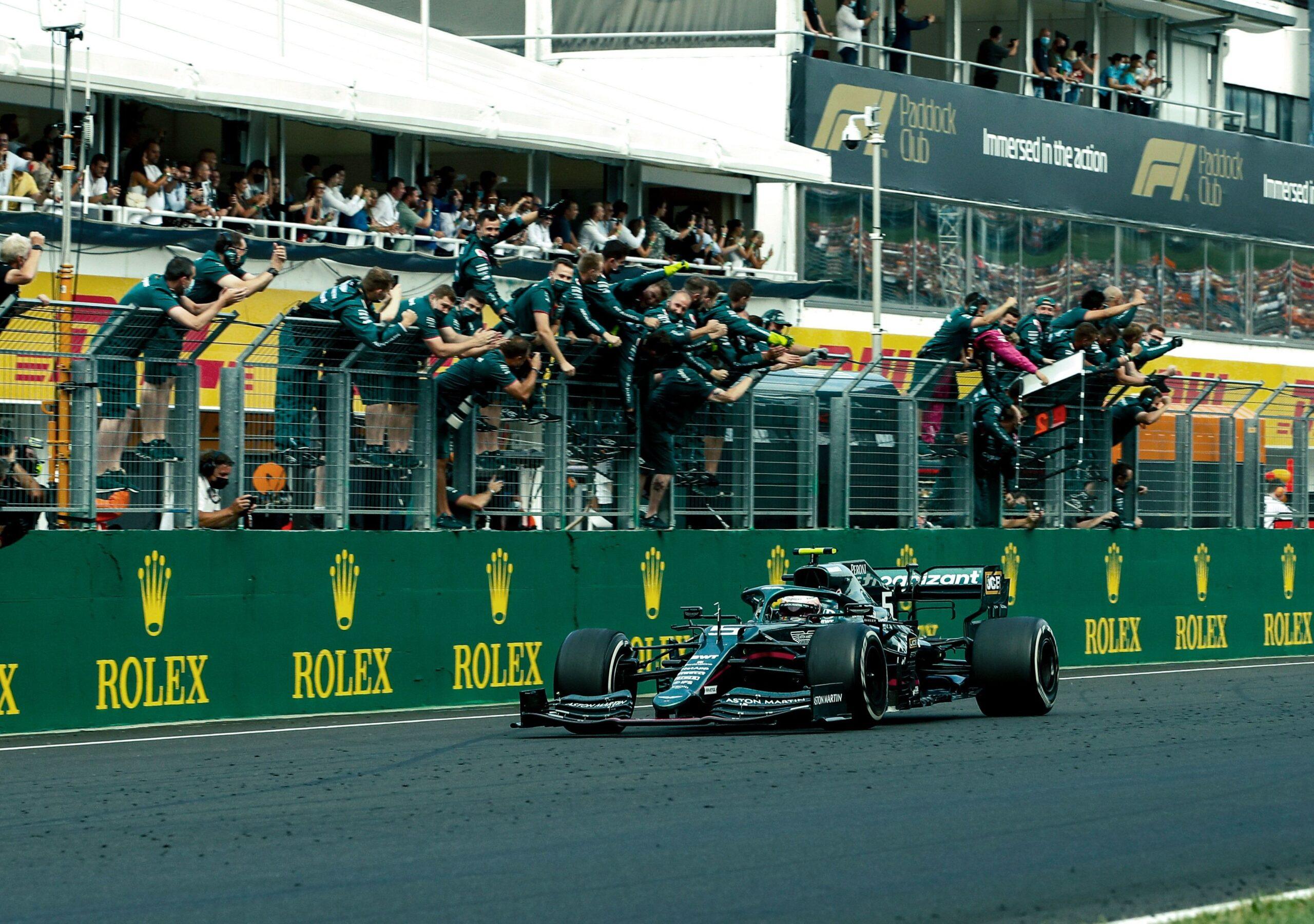 L'Aston Martin inizia il ricorso contro la squalifica di Vettel al GP d'Ungheria.