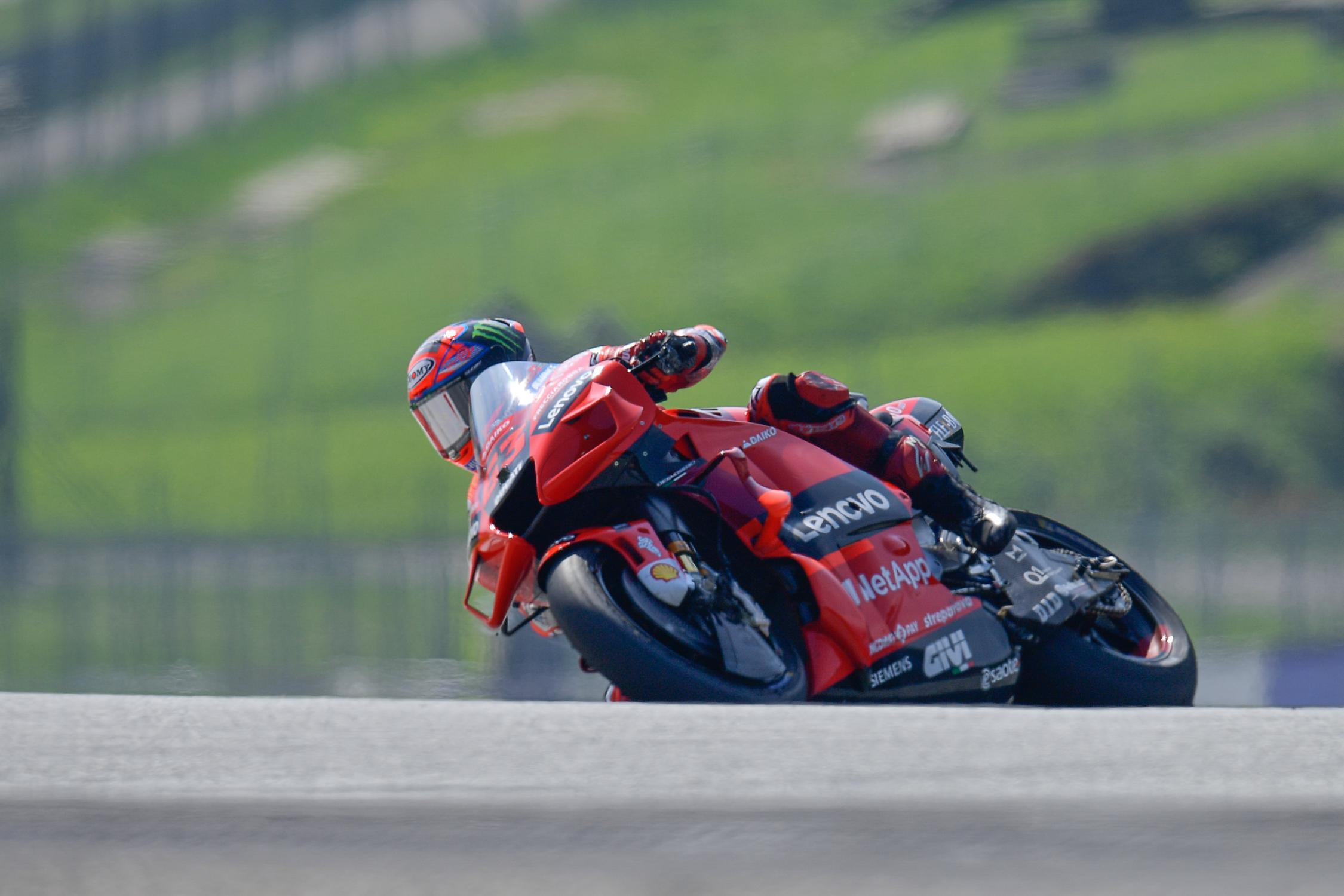 FP3 del Gp d'Austria: Bagnaia primo con la Ducati, Martin della Pramac Racing passa dalla Q1.
