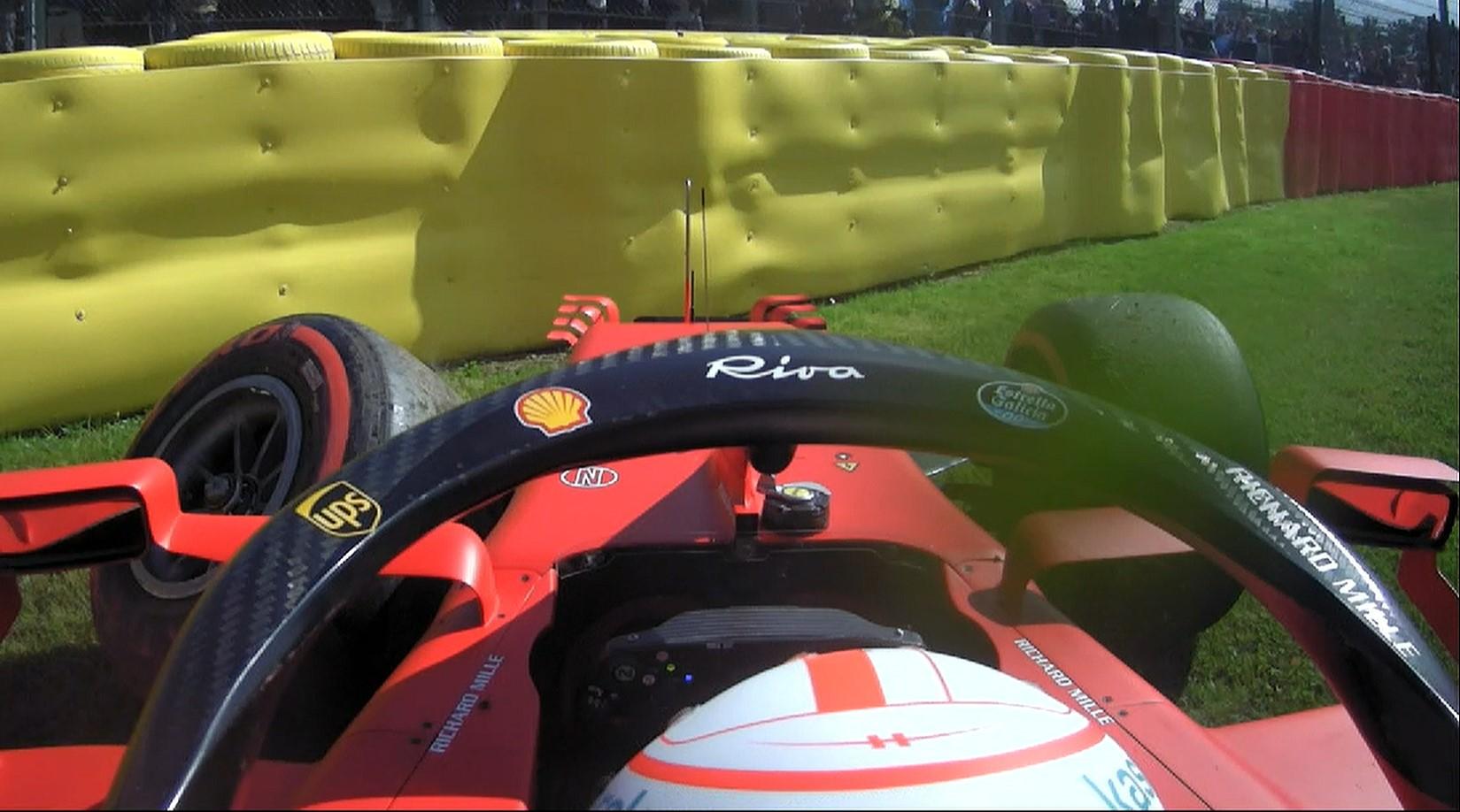 Nuovo telaio per Leclerc dopo il suo incidente nelle FP2.