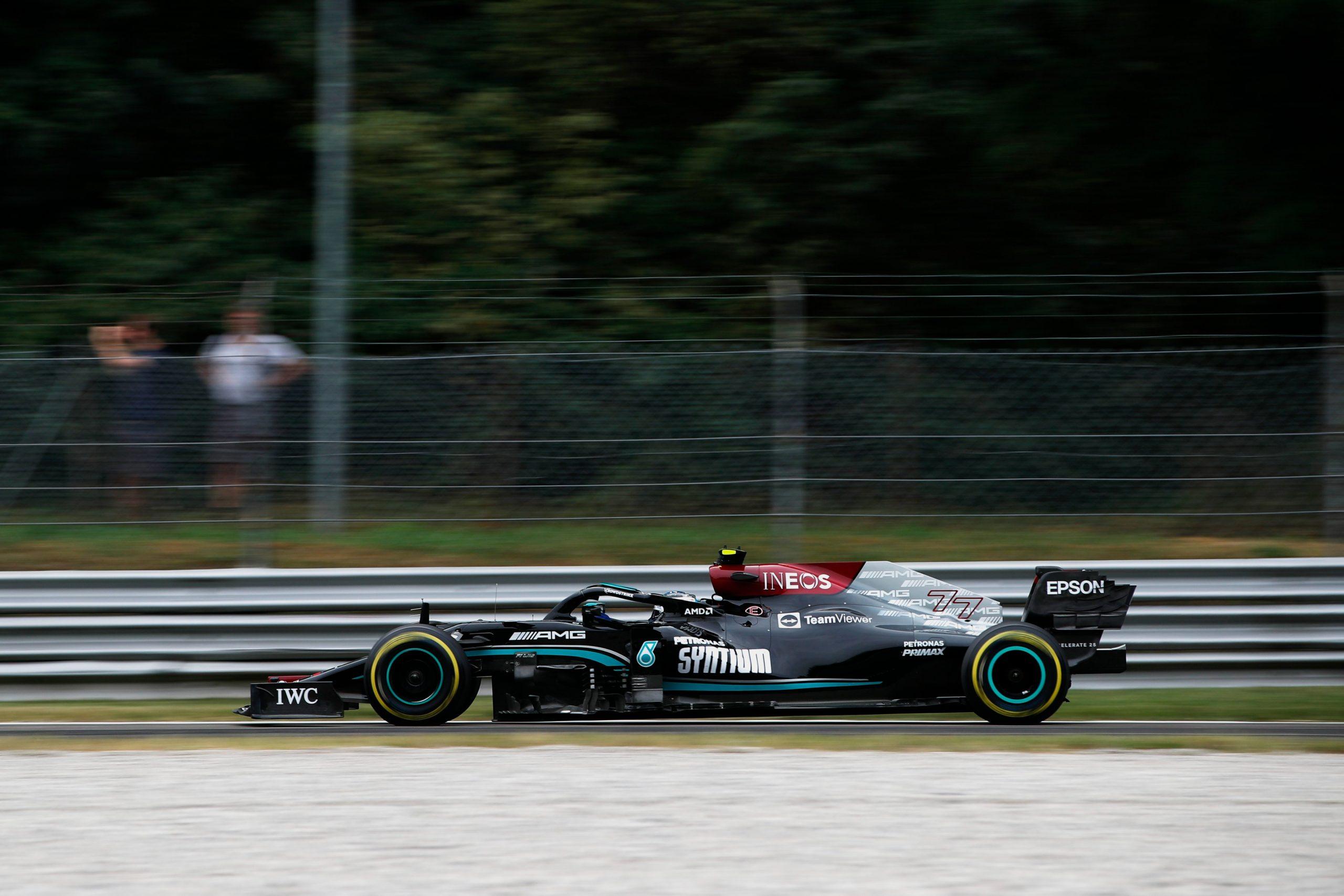 Qualifica, Gp d'Italia: Bottas sorprende, Ferrari 7° e 8°.