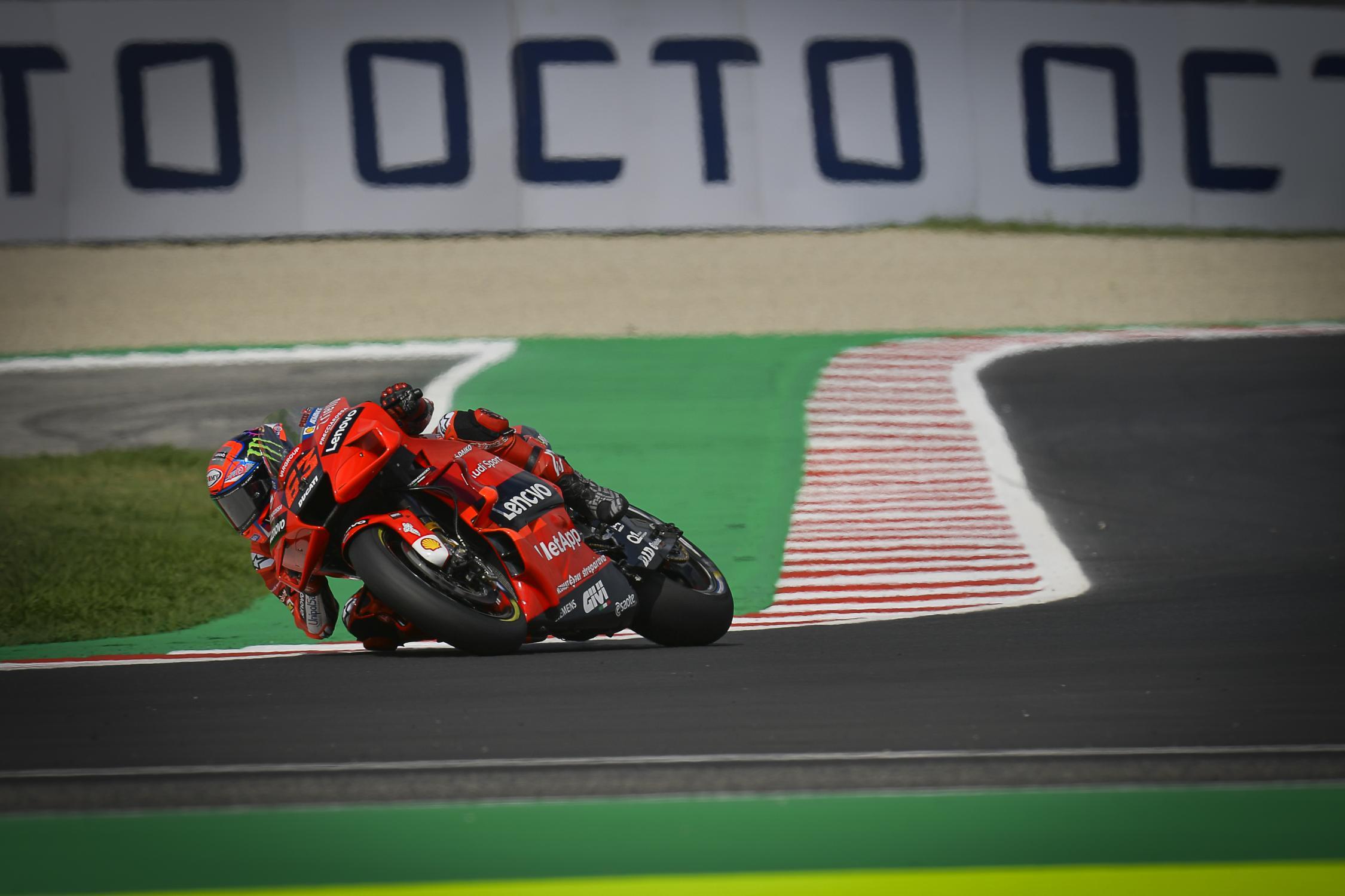 Qualifica, Gp di San Marino: Bagnaia in Pole Position, doppietta Ducati.