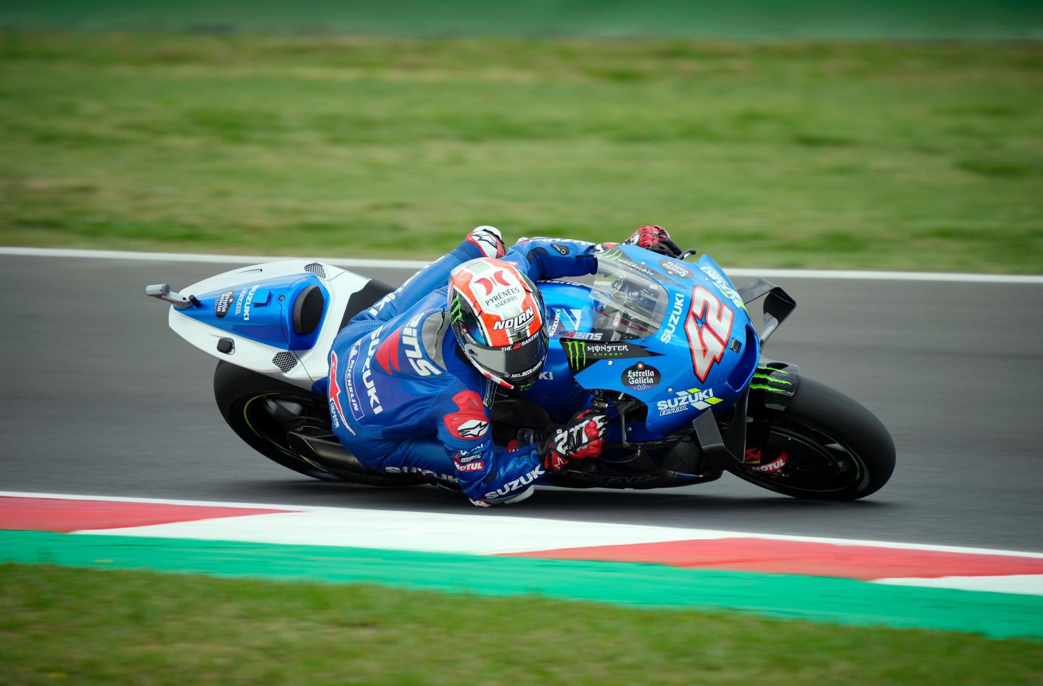 Warm Up, Gp di San Marino: Alex Rins il più veloce, Bagnaia 3°.
