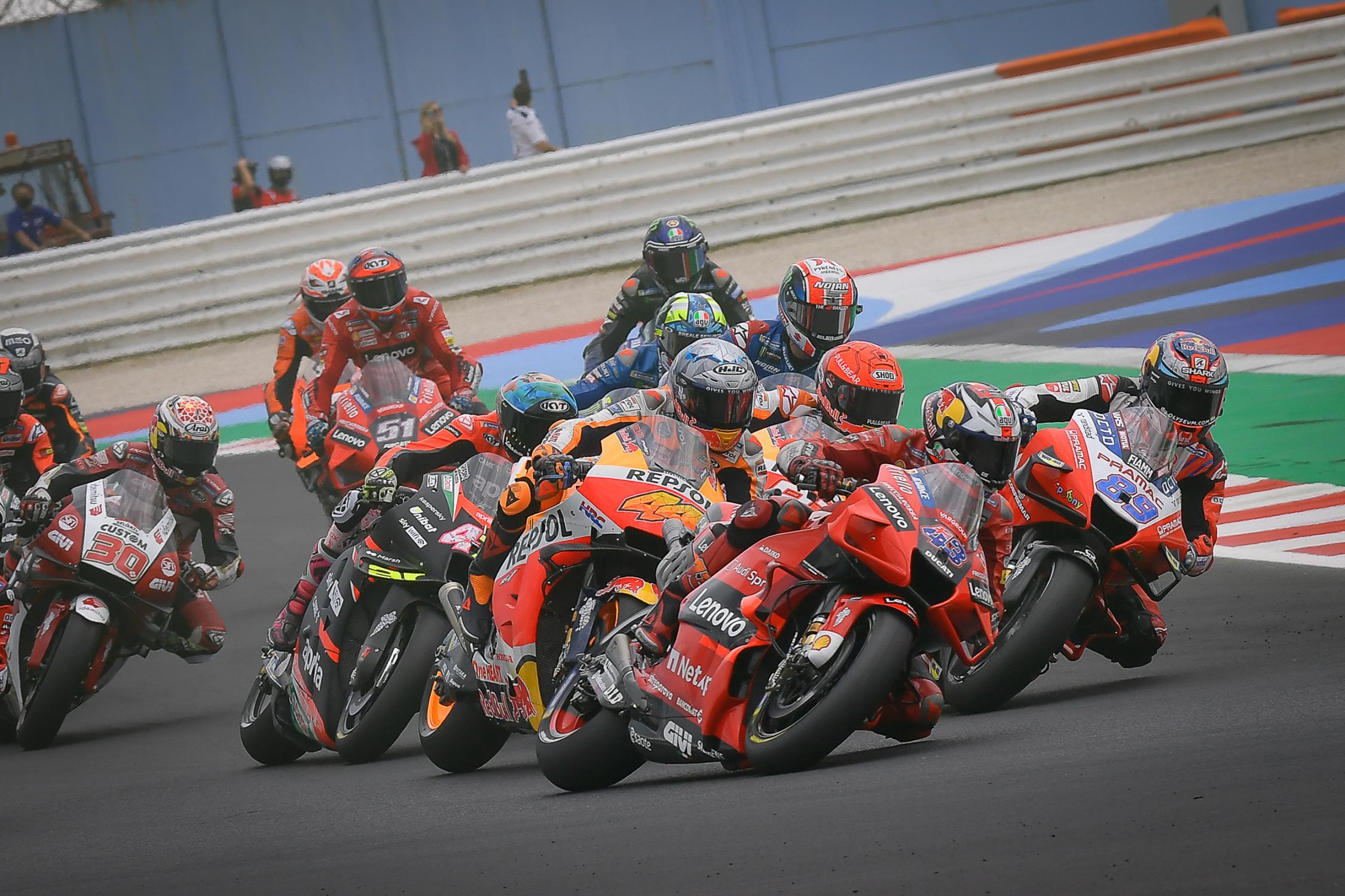 Svelato il calendario provvisorio di MotoGP 2022.