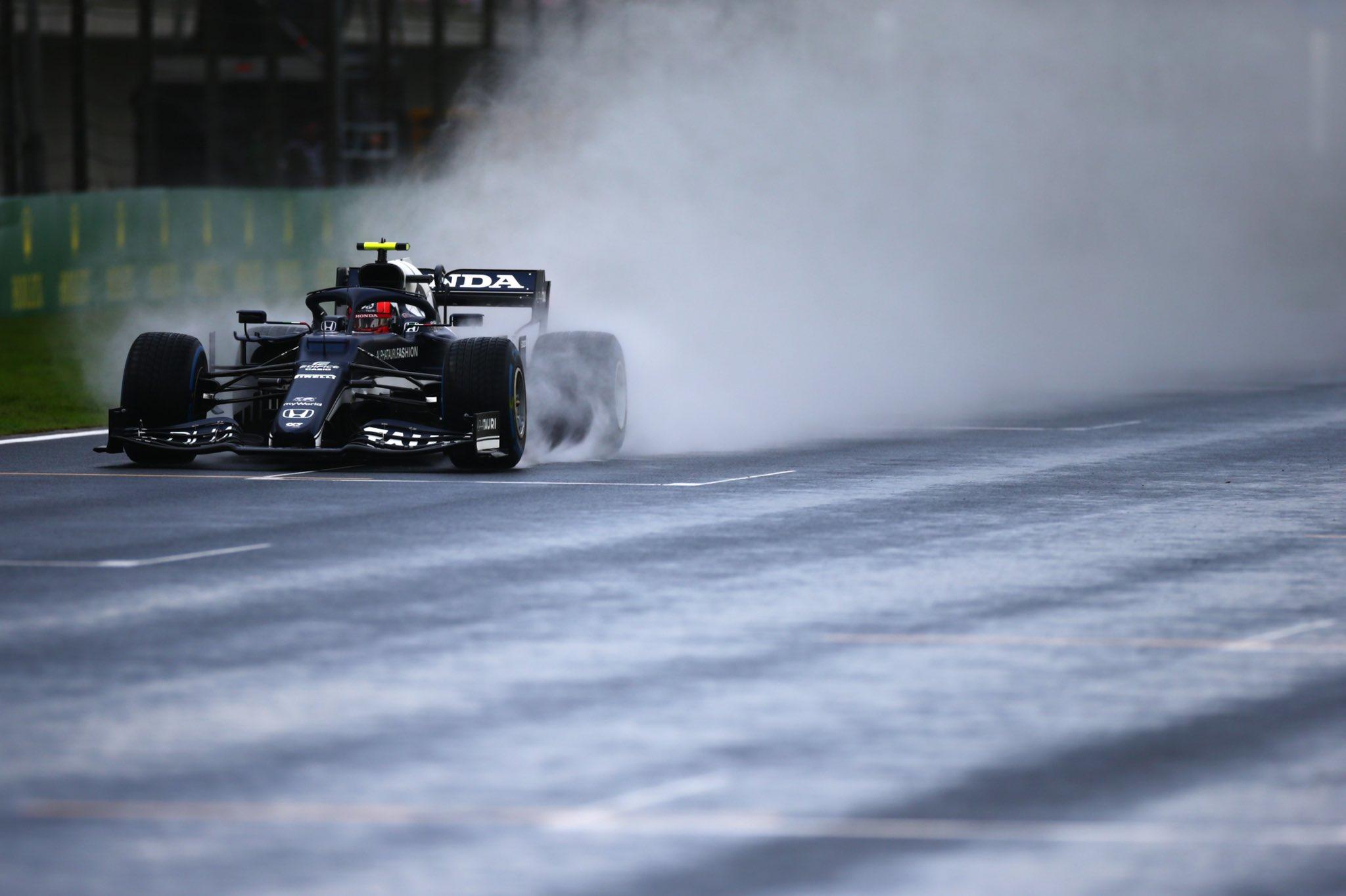 FP3, Gp di Turchia: Gasly il più veloce sul bagnato. Ferrari 4° e 5°.