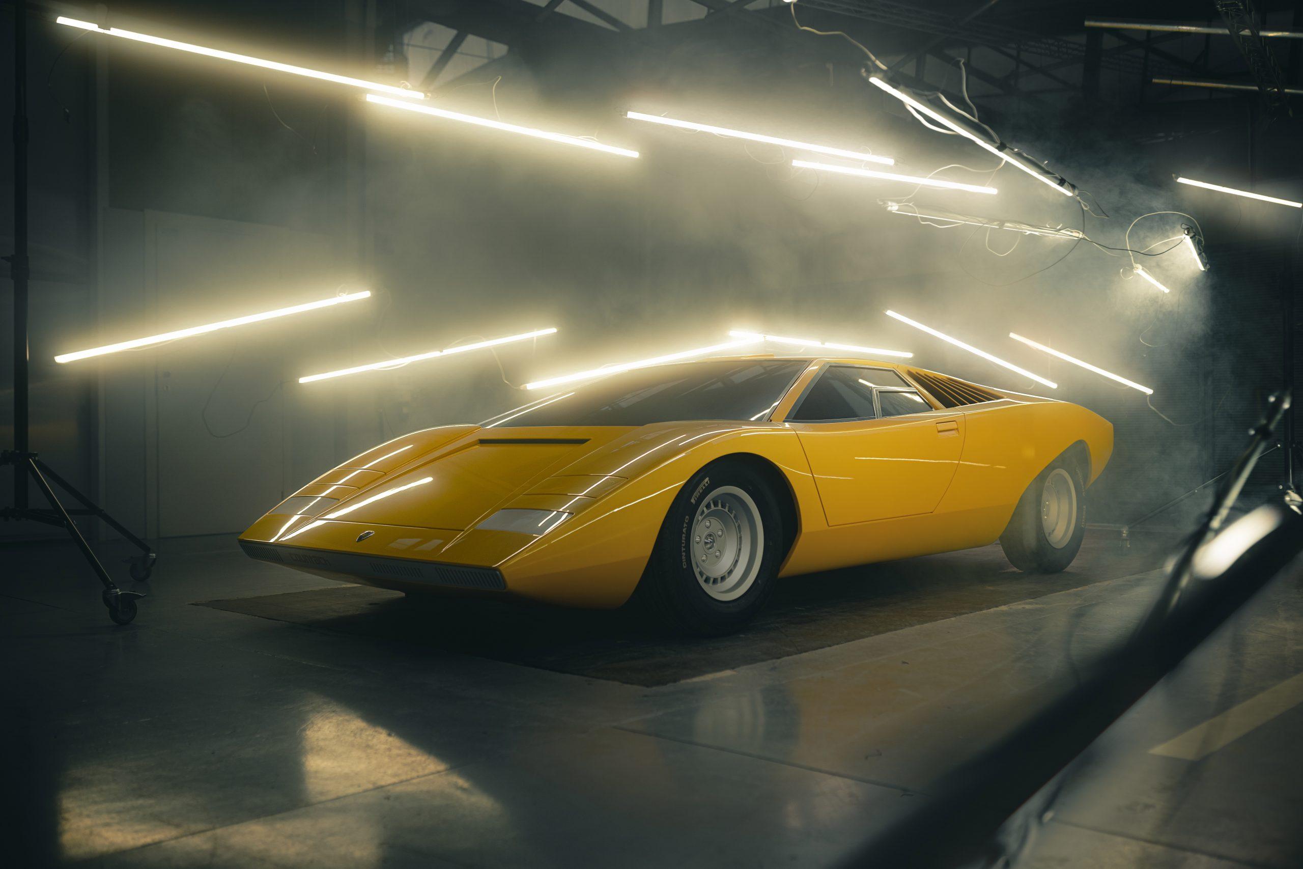 Ricostruita la Lamborghini Countach LP500 del 1971.